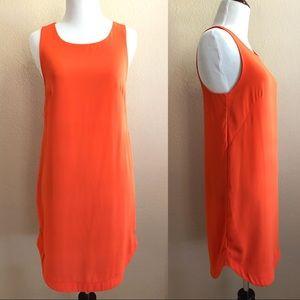H&M tank dress in neon orange, size 2